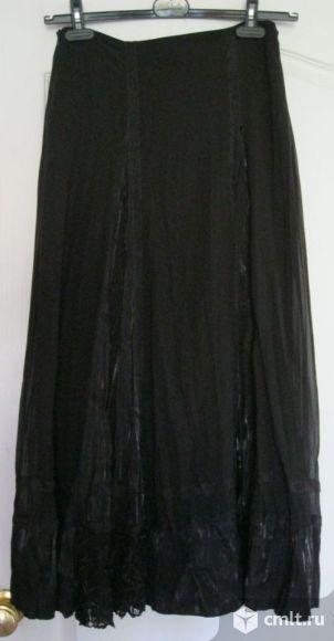 Продам черную юбку длиной в пол
