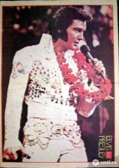 "Elvis Presley. Плакат из газеты ""Собеседник"" No 23/1991. Размер: 59 x 41 см.. Фото 1."