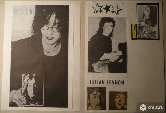 Вырезки из чехословацких и советских журналов и газет: John & Julian Lennon, Paul McCartney.. Фото 1.