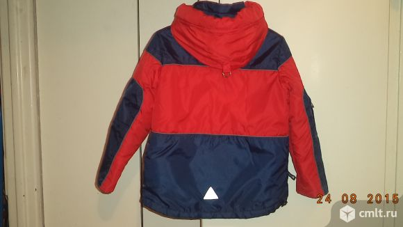 Продам тёплую куртку на 7-8 лет.. Фото 3.