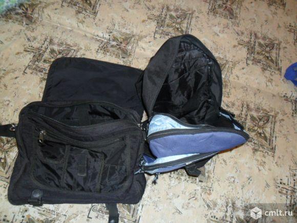 Портфель продам чёрный, вместительный.. Фото 2.