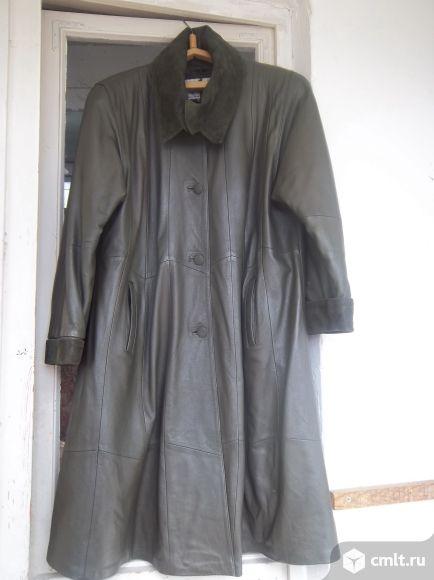 Продаю плащ кожаный женский размер 58. Фото 1.