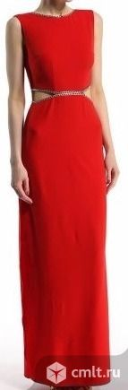 Вечернее красное платье с разрезами/новое