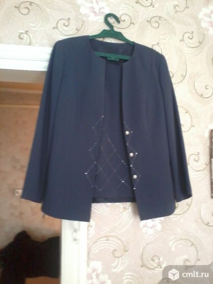 Костюм юбка+безрукавка+пиджак