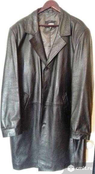 Продам кожаный плащ  размер 58-60. Фото 1.