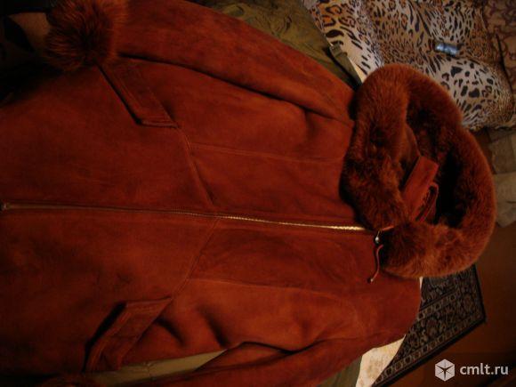 Дубленка женская, цвет: рыжый. Фото 1.