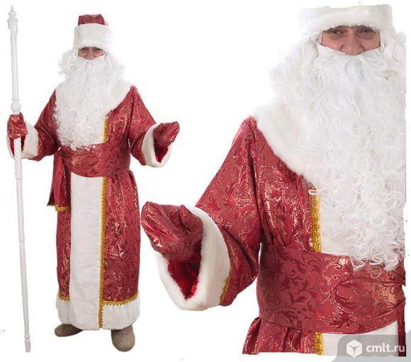 Костюм Деда Мороза, р. 52, цв. красный, новый, 5 тыс. р