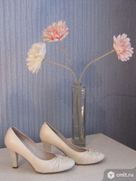 Туфли женские кожаные р.36-37