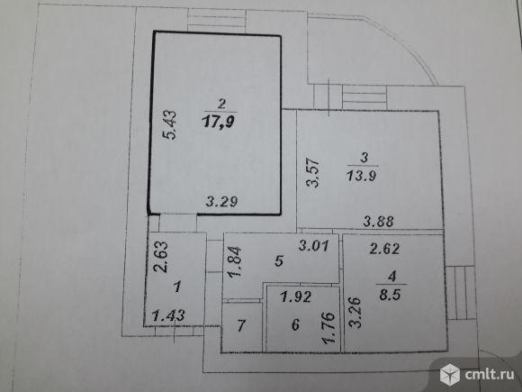 Комната   в двухком. квартире 18 кв.м
