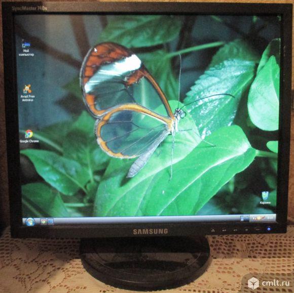 Монитор Samsung ж/к, 17 дюймов, б/у, 2.5 тыс. р