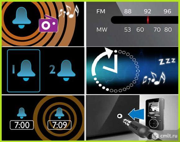 Радиочасы, радиобудильник FM AM Philips