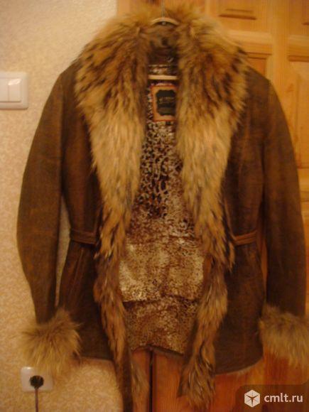 Куртка кожаная  осень-зима. Фото 1.