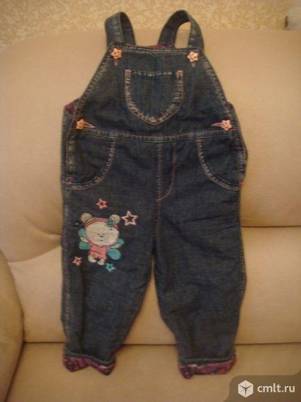 Комбинезон джинсовый на флисе. Фото 1.