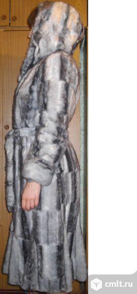 Шуба из искусственного меха женская, р. 44-46, капюшон