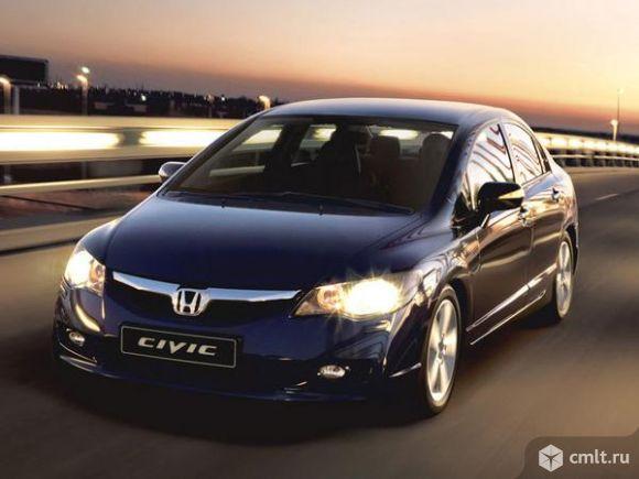 Honda-Civic 2008 г. в., 1.8, 100000 км, цв. черный, АКПП. Фото 1.