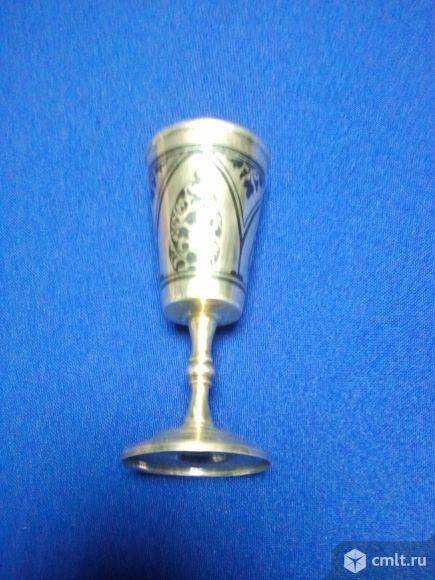 Рюмка серебро с позолотой