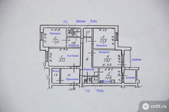 4-комнатная квартира 121,2 кв.м