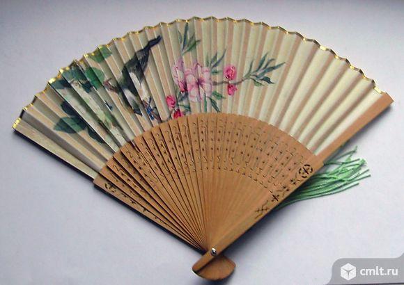 Старинный китайский веер. Фото 1.