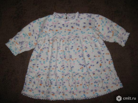 Детское вязаное платье. Фото 1.