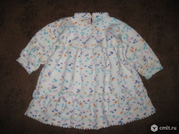 Детское вязаное платье. Фото 2.