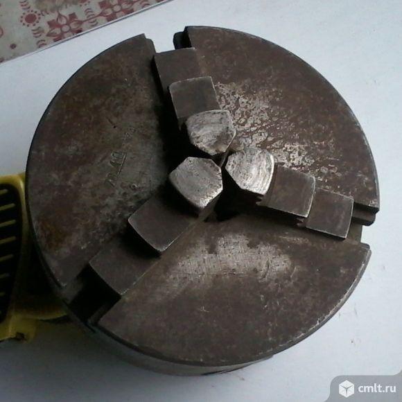 Патрон токарный трехкулачковый диаметром 130 мм самоцентрирующийся, б/у. Фото 3.