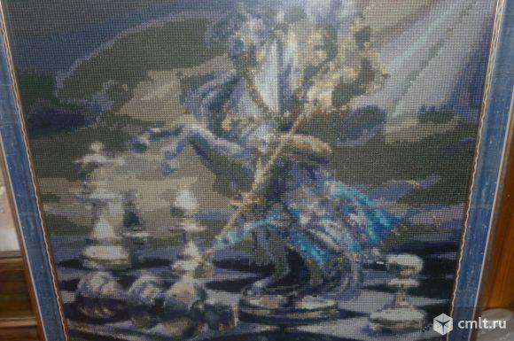 Вышивка крестом Шахматный рыцарь. Фото 1.