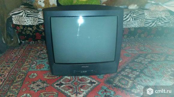 Телевизор кинескопный цв. Филипс 21 рт 1654-58. Фото 1.