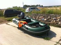 Продам лодку пвх HDX-зелёную + мотор yamaha-15