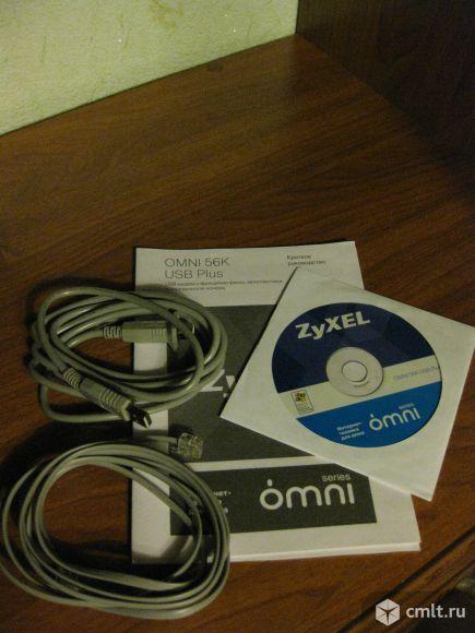 Модем zyxel Omni 56K USB plus EE. Фото 4.