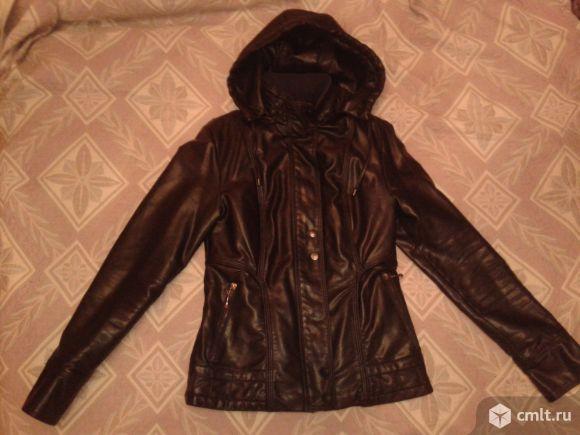 Куртки кожаные осенние р.42-44. Фото 1.