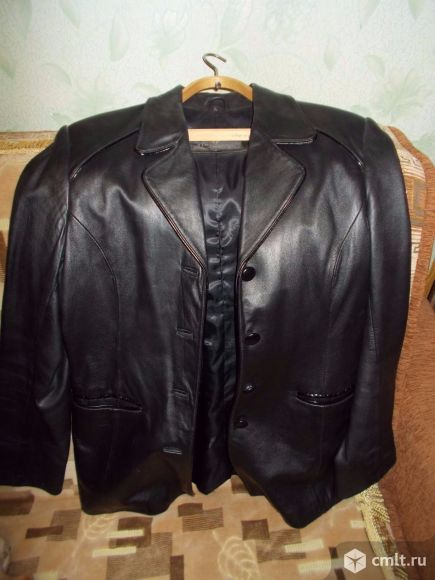 Продам пиджак кожаный женский.. Фото 1.