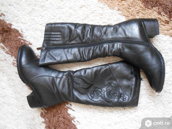Зимние сапоги р-р 36 кожаные новые. Фото 1.