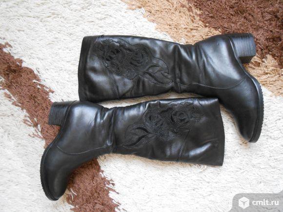 Зимние сапоги р-р 36 кожаные новые. Фото 3.