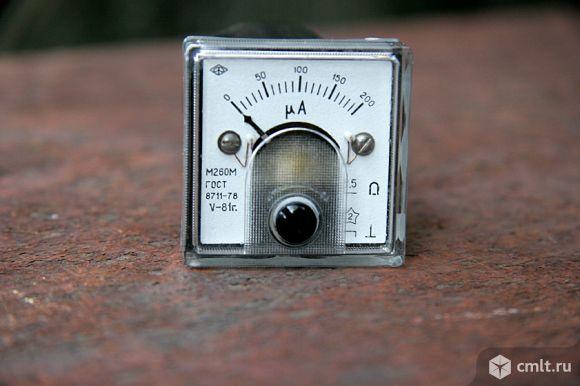Измерительные приборы милли и микроамперметры. Фото 1.