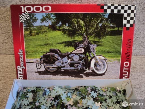 Мотоцикл. Пазлы 1000 элементов. Фото 1.