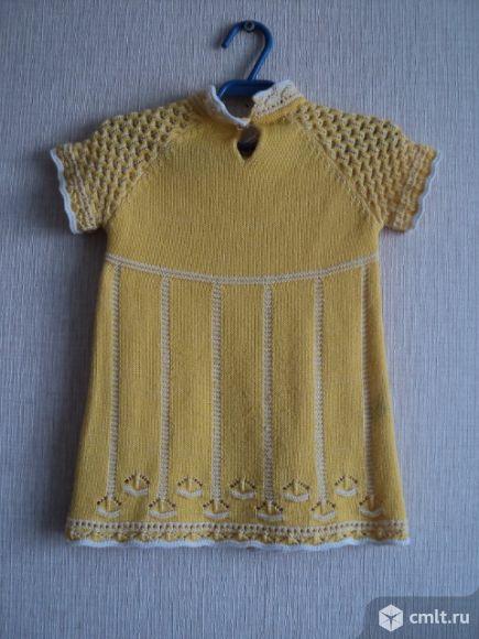 Платье вязаное для девочки 3-5 лет