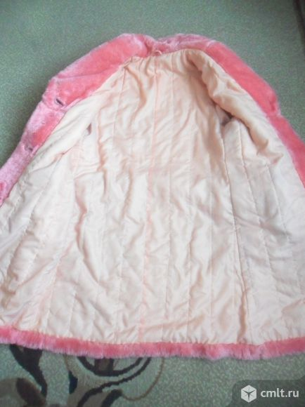 Шубка розовая