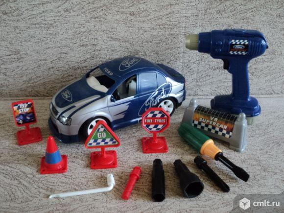 Автогонка. Конструктор пластиковый. Фото 1.