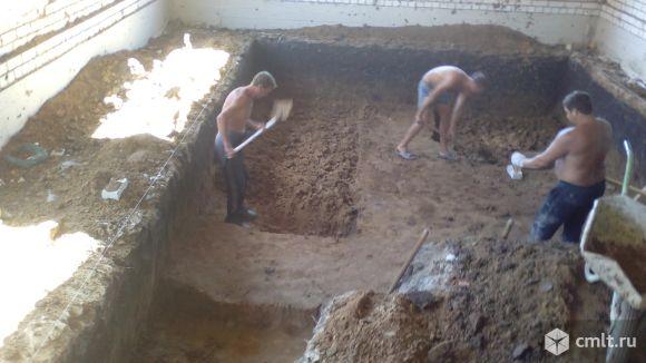 Земляные и бетонные работы. Фото 1.