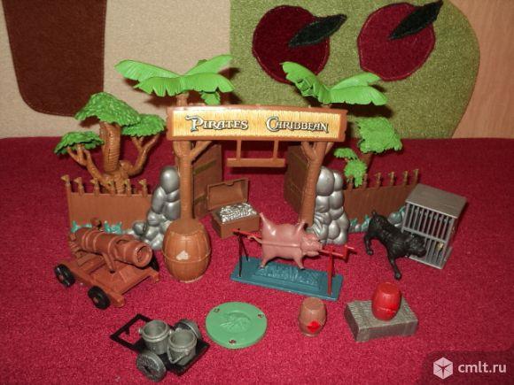 Набор пластиковый для игры в Зоопарк. Фото 1.
