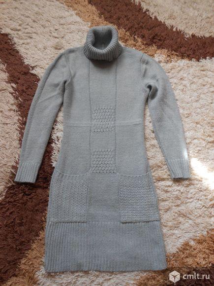 Платье теплое трикотажное р-р 42-44