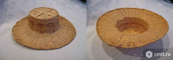 Шляпка для куклы соломенная