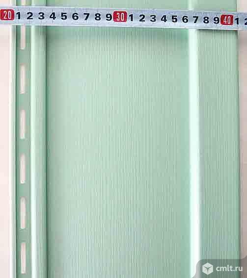 Сайдинг вертикальный акриловый, цвет - киви, торг.. Фото 1.