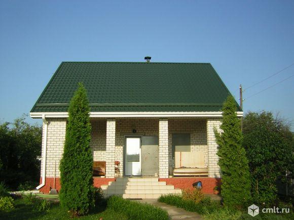 Дом из белого кирпича 130 кв. м.