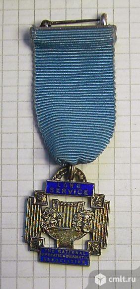 Оригинальная серебряная медаль Англия. Фото 1.