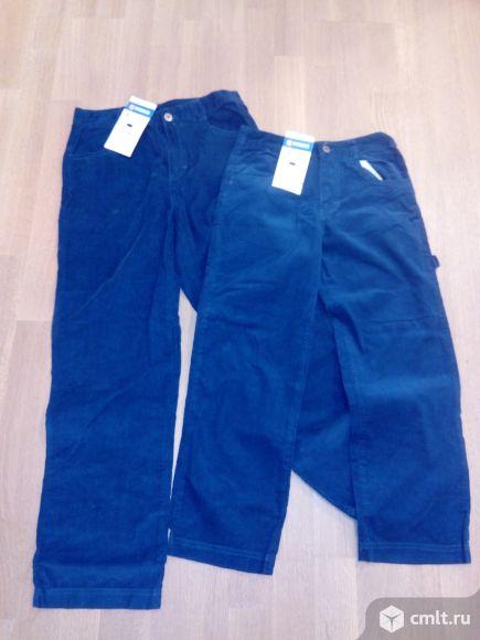 Новые тонкие вельветовые джинсы, р-ры 128 и 146. Фото 1.