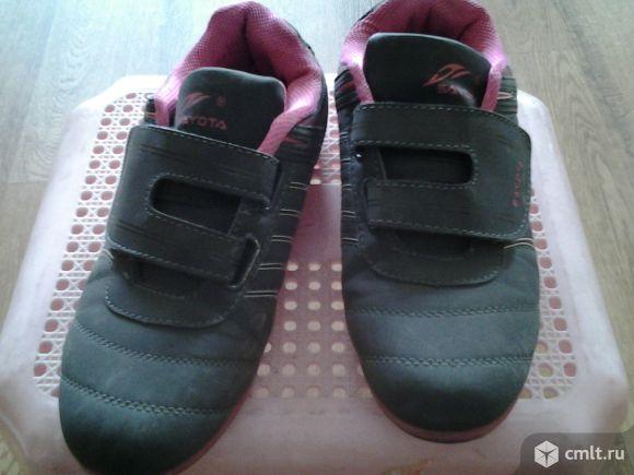 Кроссовки замшевые. Фото 1.