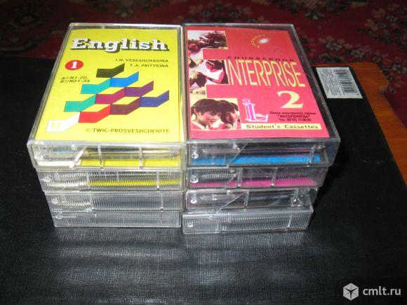 Аудиокассеты с записью курса английского языка, 4 шт. Фото 2.