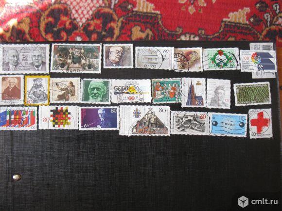 Марки почтовые, ФРГ, 40 шт., по 25 р., для коллекции. Фото 1.