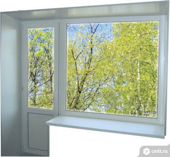 Блок балконный пластиковый: дверь 700х2100 мм